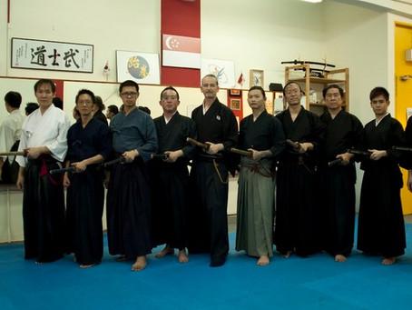 Andrej sensei's 2nd visit to the Eishin Ryu Iaido Singapore