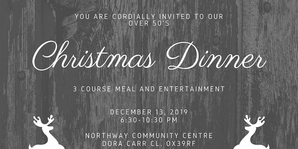 Over 50's Christmas dinner 2020