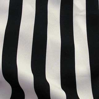 Satin Black & White Stripe