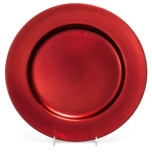 """Lacquer Red 13"""" Rnd"""