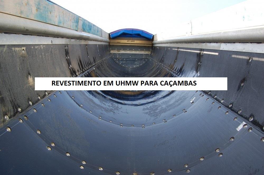 Caçamba revestida com UHMW monder