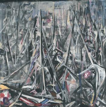 Ohne Titel, 2004, Öl auf Leinwand, 180 x 180 cm