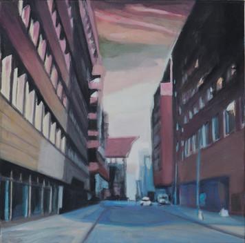 """Homeland II"", 2014, Öl auf Leinwand, 50 x 50 cm"