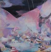 Ohne Titel, 2011, Öl auf Leinwand, 150 x 150 cm