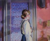 """""""Sally"""", 2019, Öl auf Leinwand, 135 x 110 cm"""