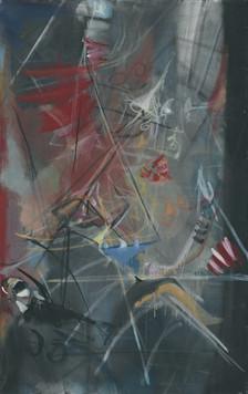 Ohne Titel, 2004, Öl auf Leinwand, 63 x 100 cm