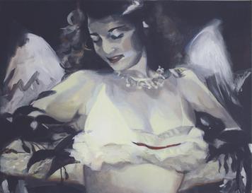 """""""Gone I"""", 2017, Öl auf Leinwand, 100 x 85 cm"""