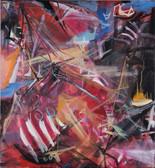 """Rot"", 2009, Öl auf Leinwand, 100 × 100 cm"