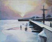 """Winter"", 2014, Öl auf Leinwand, 43 x 34 cm"