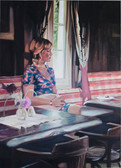 """Alm"", 2016, Öl auf Leinwand, 110 x 150 cm"