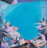 """Azur"", 2010, Öl auf Leinwand, 50 × 50 cm"