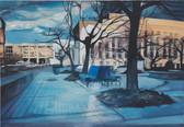 """""""Empty Sky II"""", 2016, Öl auf Leinwand, 100 x 61 cm"""