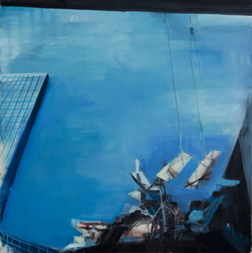 Ohne Titel, 2000, Öl auf Leinwand, 170 x 170 cm