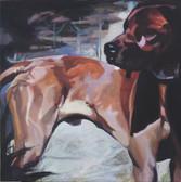 """Lux"", 2016, Öl auf Leinwand, 100 x 100 cm"