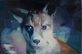 """Fox"", 2014, Öl auf Leinwand, 75 x 50 cm"