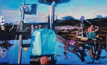 Ohne Titel, 2012, Öl auf Leinwand, 160 x 100 cm