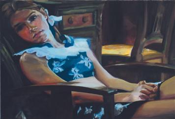 """Lo"", 2015, Öl auf Leinwand, 73 x 50 cm"
