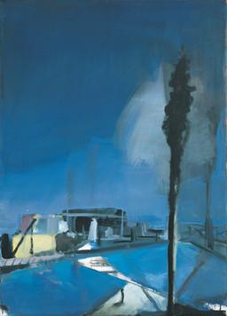 Ohne Titel, 2001, Öl auf Leinwand, 50 x 80 cm