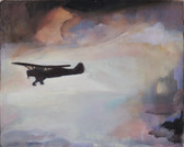 """Flight"", 2014, Öl auf Leinwand, 43 x 34 cm"
