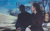 """""""Like Lovers Do I"""", 2017, Öl auf Leinwand, 110 x 60 cm"""