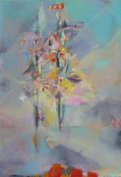 Ohne Titel, 2009, Öl auf Leinwand, 80 x 120 cm