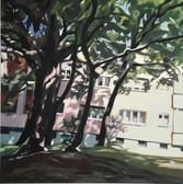 """""""Draußen"""", 2019, Öl auf Leinwand, 50 x 50 cm"""