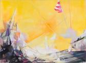 """""""Auf Deck"""", 2011, Öl auf Leinwand, 100 x 75 cm"""