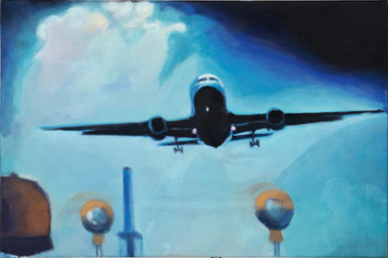 """Aeroplane"", 2014, Öl auf Leinwand, 75 x 50 cm"