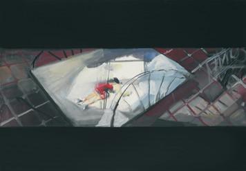 Ohne Titel, 2001, Öl auf Leinwand, 110 x 70 cm