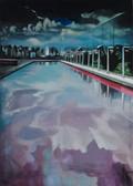 """""""Fountain"""", 2014, Öl auf Leinwand, 100 x 130 cm"""