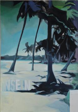 """Inseln im Strom"", 2012, Öl auf Leinwand, 90 x 130 cm"