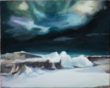 """Wave"", 2014, Öl auf Leinwand, 43 x 34 cm"