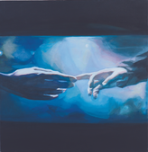 Ohne Titel, 2013, Öl auf Leinwand, 75 × 75 cm