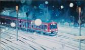 """Train"", 2013, Öl auf Leinwand, 120 × 70 cm"