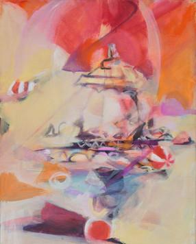 Ohne Titel, 2009, Öl auf Leinwand, 34 x 43 cm