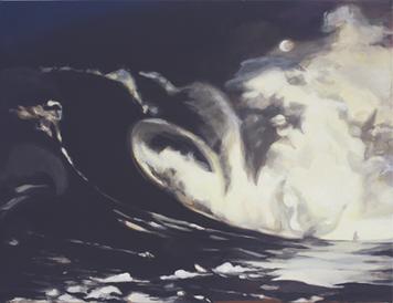 """""""Gone lll"""", 2017, Öl auf Leinwand, 100 × 85 cm"""