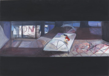 Ohne Titel, 2001, Öl auf Leinwand, 100 × 70 cm