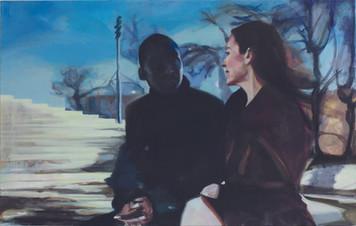 """""""Like Lovers Do I"""", 2017, Öl auf Leinwand, 60 x 110 cm"""