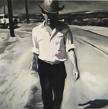 """""""Gone IV"""", 2018, Öl auf Leinwand, 100 x 100 cm"""