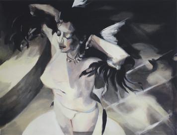 """Gone II"", 2017, Öl auf Leinwand, 100 x 85 cm"
