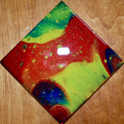 free flow ceramic coasters front view