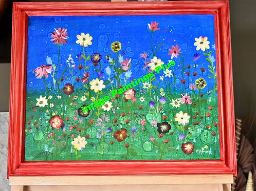 Eclectic Flowers - acrylic front view