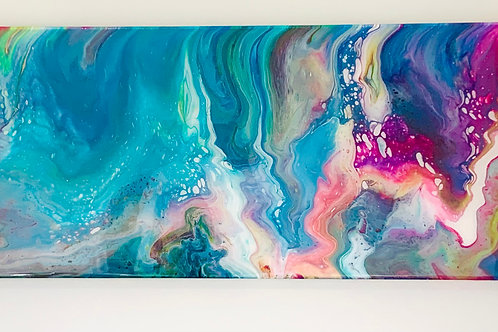 Deluge of Colors - Abstract Wall Art - Front view