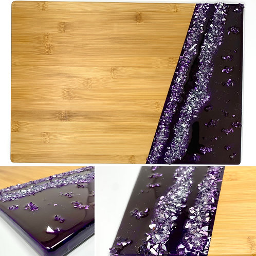 Royal Purple - Bamboo Charcuterie Board Front view