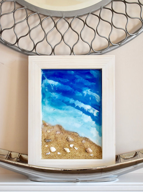 Beach and Waves Resin Art Front View