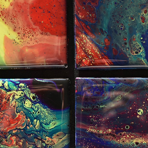 Ceramic Coasters-Galactic Transitions-4x4 inch