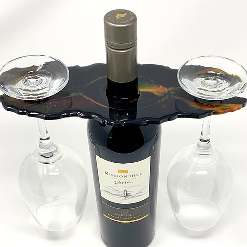 Wine Butler - Red and Yellow in Black