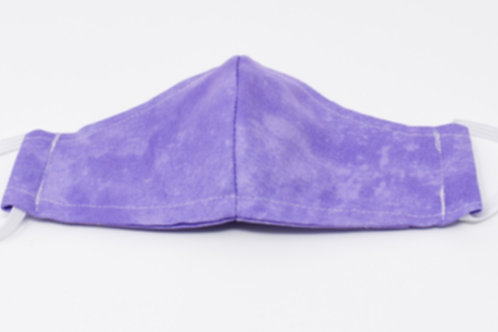 face mask - Light Purple print front view