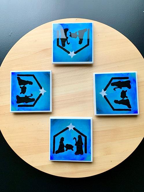 Nativity Coasters