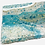 """Thumbnail: Aqua - Resin Geode Style  12""""x24"""" stretched canvas"""